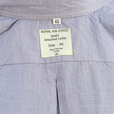 RAF WW2 full button Blue Shirt with attached Collar_