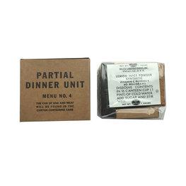 PARTIAL DINNER UNIT MENU NO.4