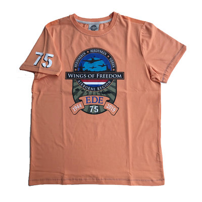 WINGS OF FREEDOM CREST SHIRT FLAME ORANGE