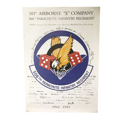 101ST 506TH AIRBORNE SIGNS POSTER