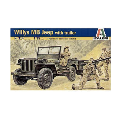 WILLY MB JEEP WITH TRAILER