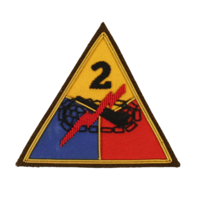 2ND ARMORED DIVISION PATCH BULLION
