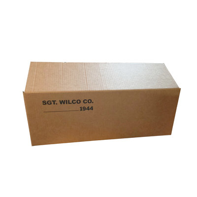 Solid fiber carton packed