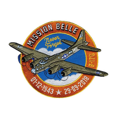 GEBORDUURDE PATCH MISSION BELLE