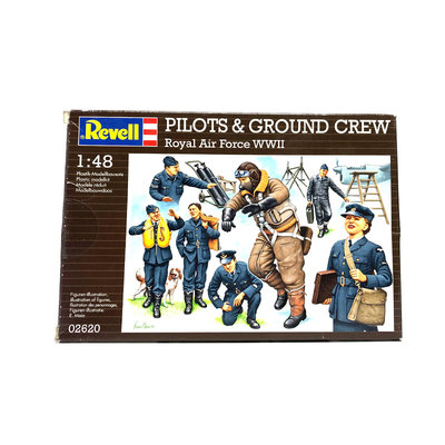 PILOTS & GROUND CREW ROYAL AIR FORCE WWII 1:48