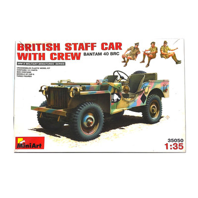 BRITISH STAFF CAR WITH CREW 1:35