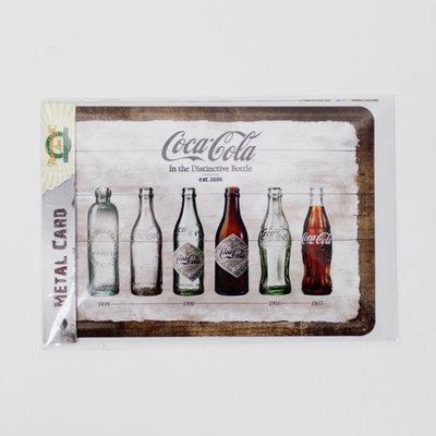 METAL CARD COCA COLA TIMELINE