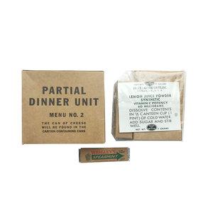 PARTIAL DINNER UNIT MENU NO.2