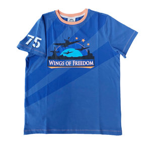 WINGS OF FREEDOM T-SHIRT DUTCH BLUE