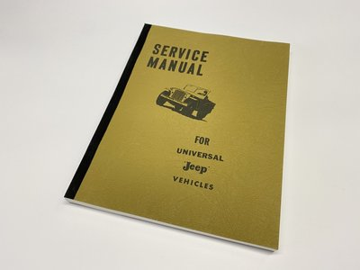 SERVICE MANUAL FOR UNIVERSAL JEEP VEHICLES