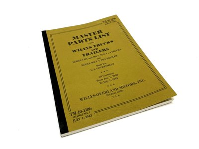 MASTER PARTS LIST FOR WILLYS TRUCKS AND TRAILERS