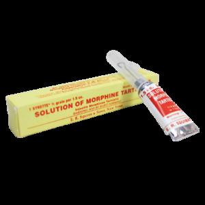 Morphine Tartrate and box Replica