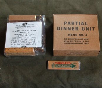 PARTIAL DINNER UNIT MENU NO.4