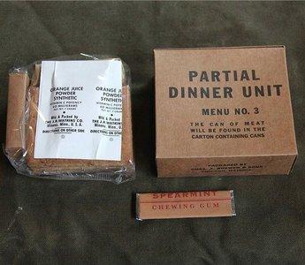 PARTIAL DINNER UNIT MENU NO.3